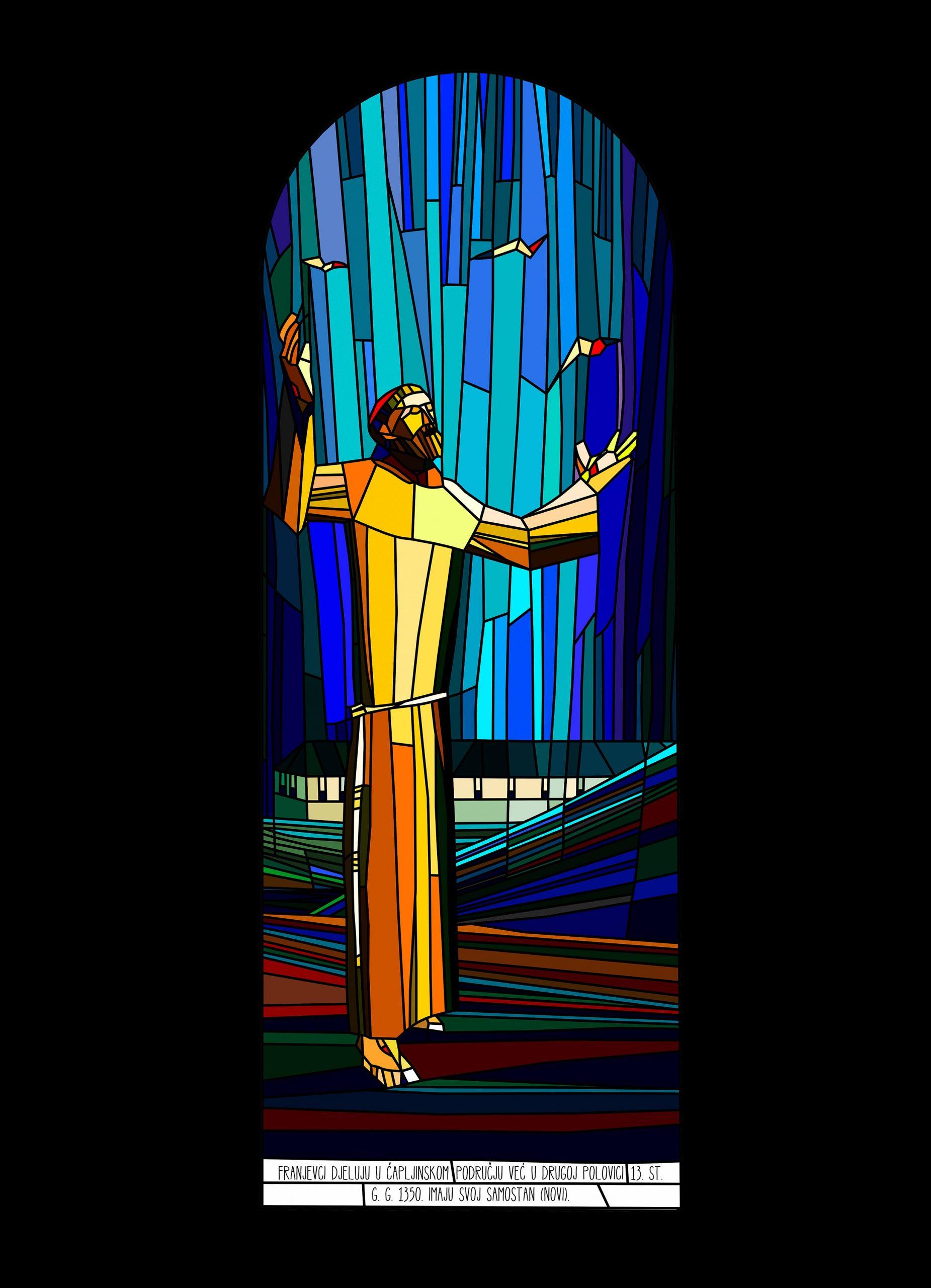 Sv. Franjo, 2015., 210 x 80 cm
